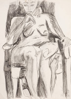 Sketch, seated model