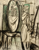 Mrs. Dorian Gray - charcoal & watercolor on paper, March 1997